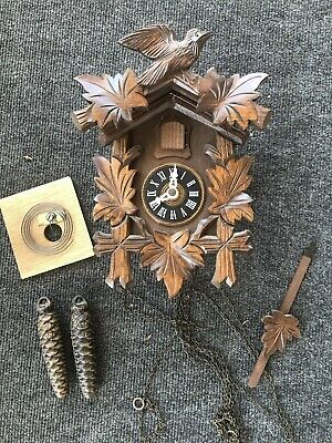 Vintage Cuckoo Clock Made In Germany One Day Movement Clock