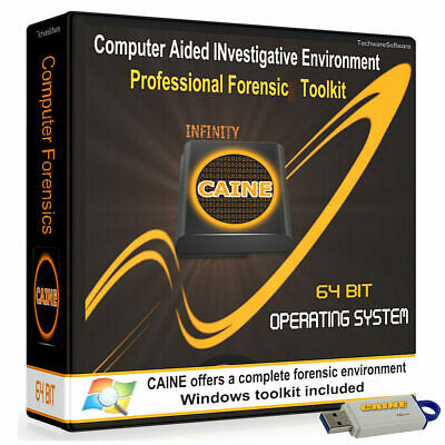 CAINE Pro-Grade Digital forensic (Hacking & Security) on Live Bootable 16GB USB