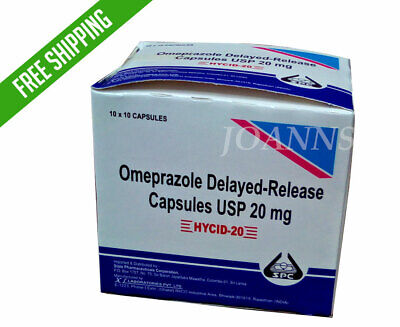OTC Omeprazole 20 - 100 - 200ct 20mg capsules Acid Reflux Heart Burn treatment