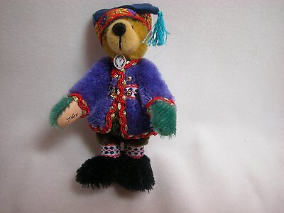 "Xmas Collectible World of  Miniature Bear 2.75/"" Mohair Daren #5040 Hand Stitched"