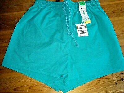 Vintage 1970s / 1980s  ladies Marks and Spencer shorts, new, size 12, turquoise