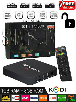 2019 MXQ PRO TV Box Media Streamer 4K Android 7.1 KD 18.3 S905W 1G+8G Wifi / X96