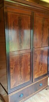 Beautiful antique flame mahogany two door wardrobe