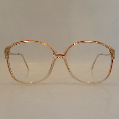 Original Women's Vintage Spectacle Frame Sherry/Gold 80's Glasses Never Worn