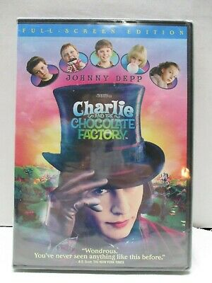 Charlie and the Chocolate Factory Full Screen DVD 2005 Rated PG Region 1 NEW