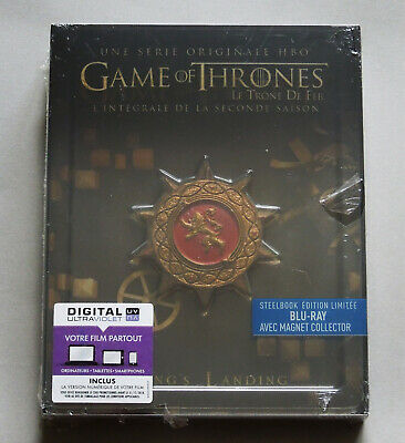 Game Of Thrones Season 2 - France Blu-Ray Steelbook Edition With Magnet * New