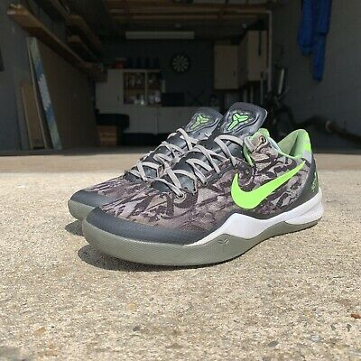 new product b9eff a874e Nike Kobe VIII 8 Size 9 Men Graffiti Grey Lime Green