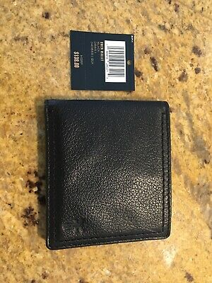 f31385be972 Frye Mens Bifold Leather Owen Wallet- Black - New Without Box $138 MSRP