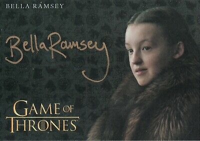 Game of Thrones Inflexions, Bella Ramsey 'Lady Lyanna Mormont' Autograph Card