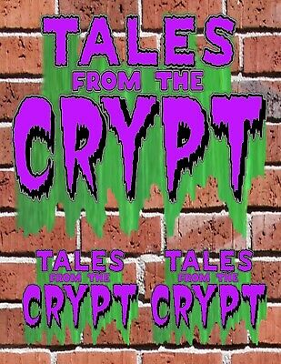 TALES FROM THE CRYPT LOGO 80s Horror Show Custom Decal Sticker Bundle