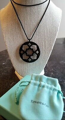 dfca80d72 Tiffany & Co. Paloma Picasso Zellige Black Round Pendant Necklace Retired