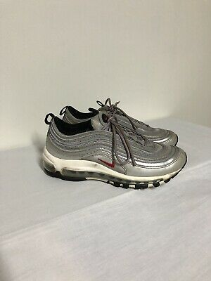 Nike Air Max 97 QS GS Silver Bullet SKU 918890 001 Size 6.5y