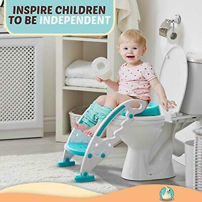 Toilet Seat Training for Toddlers – Adjustable Stair Potty Seat with Ladder