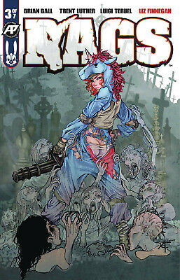 RAGS #3 Antarctic Press Zombie Exposed Variant 1st Print NM- or better