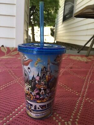 Disney World Disney Parks Magic Kingdom with Characters Tumbler - EUC