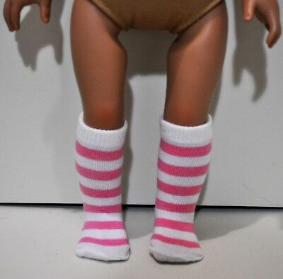 American Girl Doll Our Generation Journey 18 Doll Clothes Pink Stripped Sock