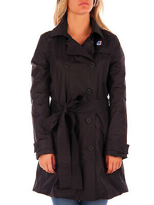 Kway trench nero Desi Poly Jersey per donna, slim fit Kway DESI POLY JERSEYK02 B