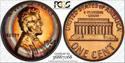 1968-S 1c LINCOLN MEMORIAL PENNY BU PCGS PR67RB CIRCLE TONED NONE HIGHER!