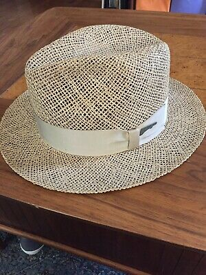 1efc5bfbad9d7d Indiana Jones Original 1984 Lucasfilm John B Stetson Straw HAT men's  size-Large