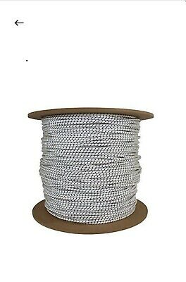 """1/8"""" Shock Cord 500 Ft Roll White With Black Tracer"""