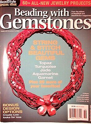 """""""Bead Style"""" special issue """"Beading with Gemstones"""" 2007  60+ projects"""