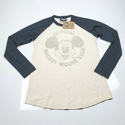64a062bd7 Junk Food Loves Disney Womens Long Sleeve T Shirt Size Large Mickey Mouse  Club