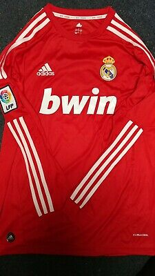 innovative design 3c1d8 e42e3 REAL MADRID SOCCER Red 2012 Retro long sleeve jersey ...