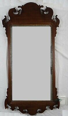 """18th c. American Chippendale Mahogany Mirror. New England 1760-1800. 41 ½"""" x 22"""""""