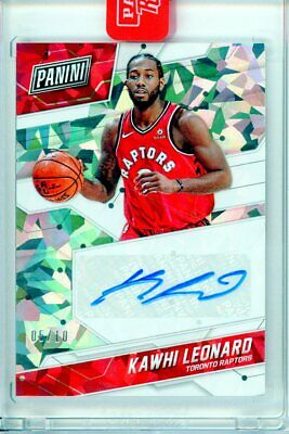 Kawhi Leonard 2018 Panini Rewards Store Exclusive Cracked Ice Auto /10 Raptors