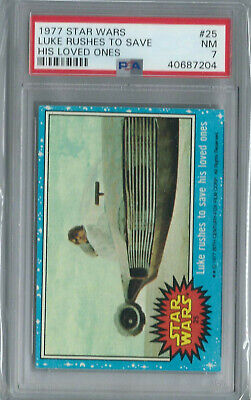 Star Wars - Series 1 (Blue) Trading Card # 25 - Topps 1977 - PSA Graded - NM 7