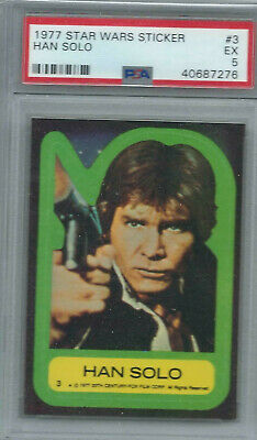 Star Wars - Series 1 (Blue) Sticker Card # 3 - Topps 1977 - PSA Graded - EX 5