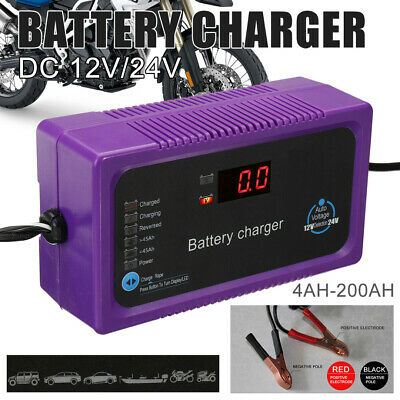 200AH Electric Car Motor Bike Auto Battery Charger Intelligent Pulse Repair