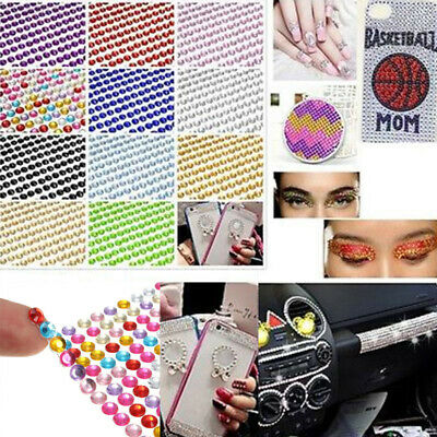 990Pcs Shiny DIY Self Adhesive Rhinestone Crystal Diamond Bling Stickers FE2F