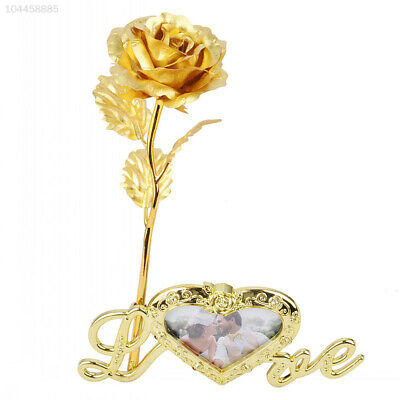 DCF4 LOVE Rose Photo Frame Base 24K Gold Beautiful Flower Frame Base Gifts 2168
