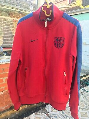 Nike FCB red soccer jacket Size S