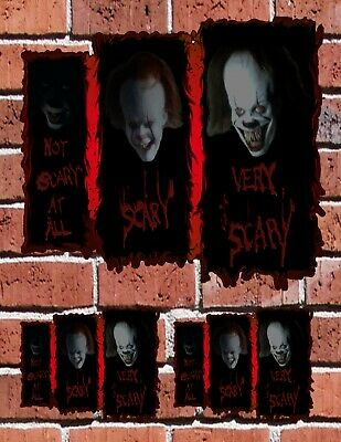 PENNYWISE Stephen King IT Horror SCHOOL AUTO SKATE HOME Decal Stickers FREE SHIP