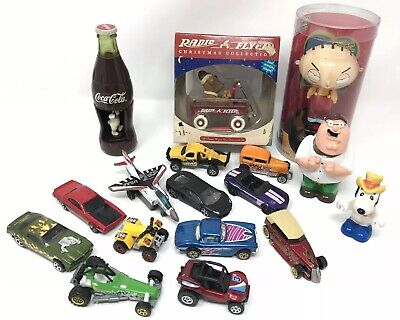 Vintage / Modern Junk Drawer Toy Lot Family Guy Snoopy Radio Flyer Coca Cola