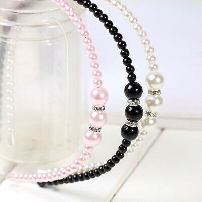 Women Rhinestone Hair Band Girls Kids Pearl Princess Women Headbands Hair Style