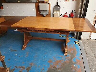 Solid Wooden Antique Oak Extending Dining Table
