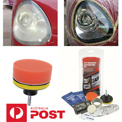 VISBELLA Car Vehicle Motorcycle Headlight Lamp Lens Cleaning Restoration DIY GR