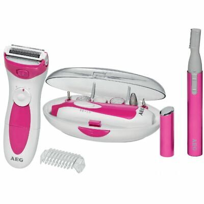 AEG Beautyset Wit Verzorgingsset Trimmer Manicure Pedicure Set Verzorging