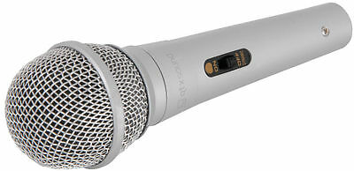 QTX DM11s Silver Microphone Switched Handheld Vocal Mic