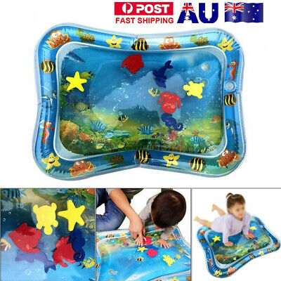 Baby Water Play Mat Inflatable For Infants Toddlers Fun Tummy Time Sea World GR