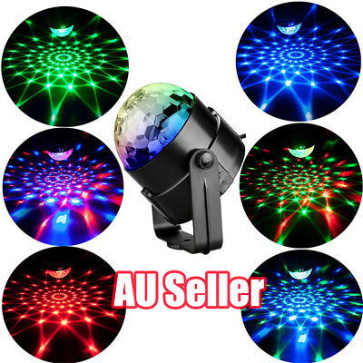 RGB LED Effect Disco Light Stage DJ Laser Lights Club Party Crystal Magic Ball R