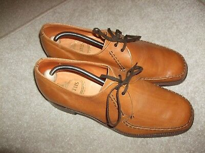 vintage pair of lotus size uk 10 1/2 tan leather lace up shoes