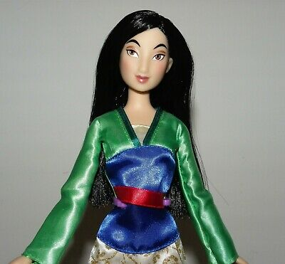 Disney Store Mulan Classic Glitter Doll + Stand Complete & Mint Condition