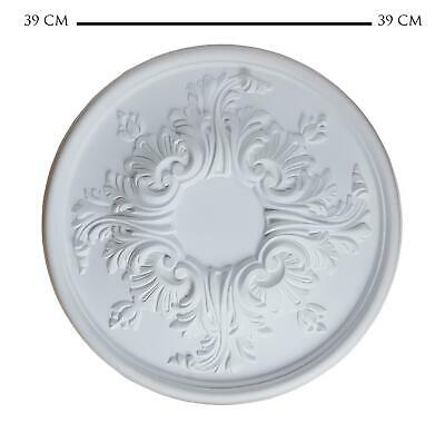 Ceiling Rose Sara Resin Strong 390mm Lightweight Not Polystyrene Easy Fix 39cm