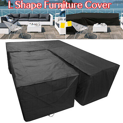 Outdoor Garden Waterproof Furniture Corner Cover Rattan L Shape Sofa Protector