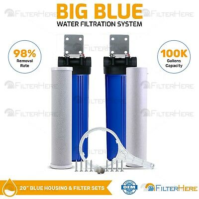 LIQUAGEN - 2 Stage City & Well Water Whole House Water Filtration