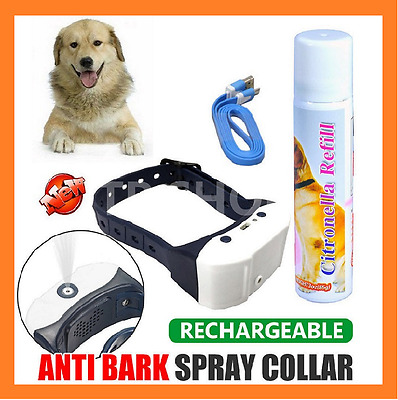 Rechargeab Automatic Citronella Anti Bark Spray Collar Stop Dog Training Barking